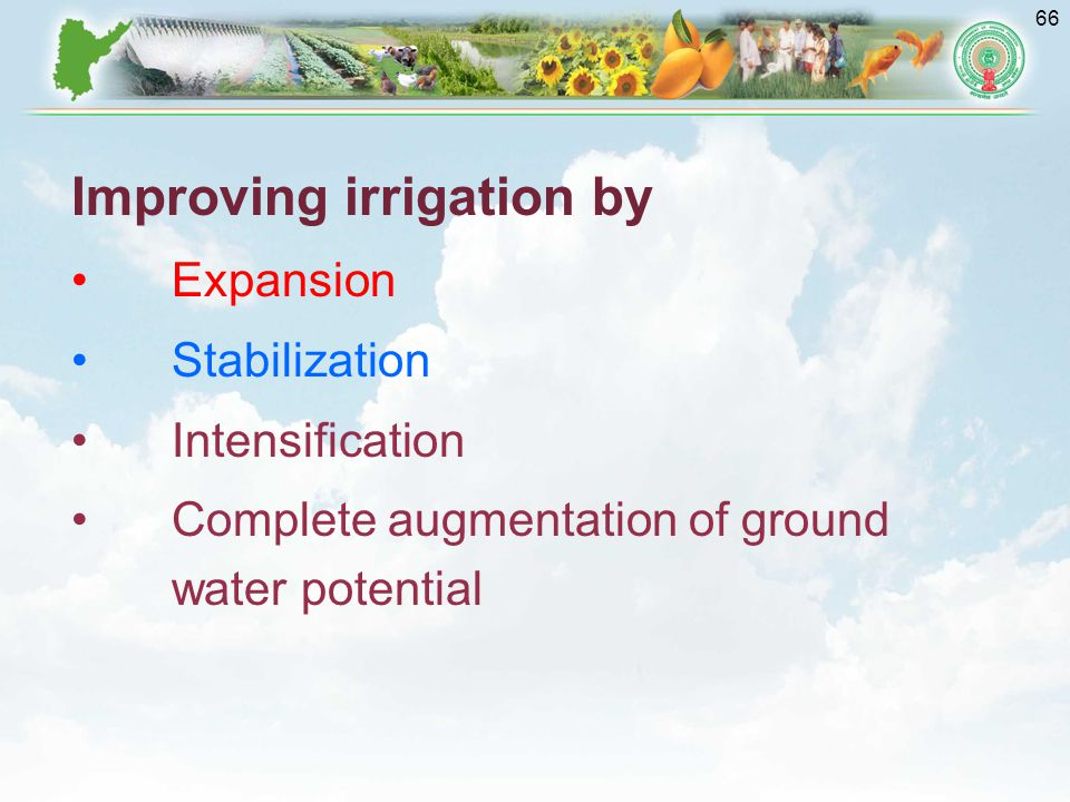 Improving irrigation by