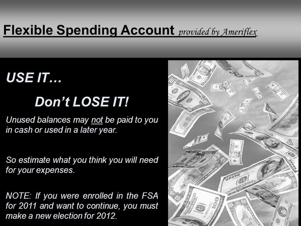 Flexible Spending Account provided by Ameriflex