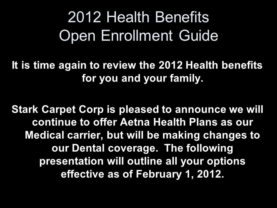 2012 Health Benefits Open Enrollment Guide