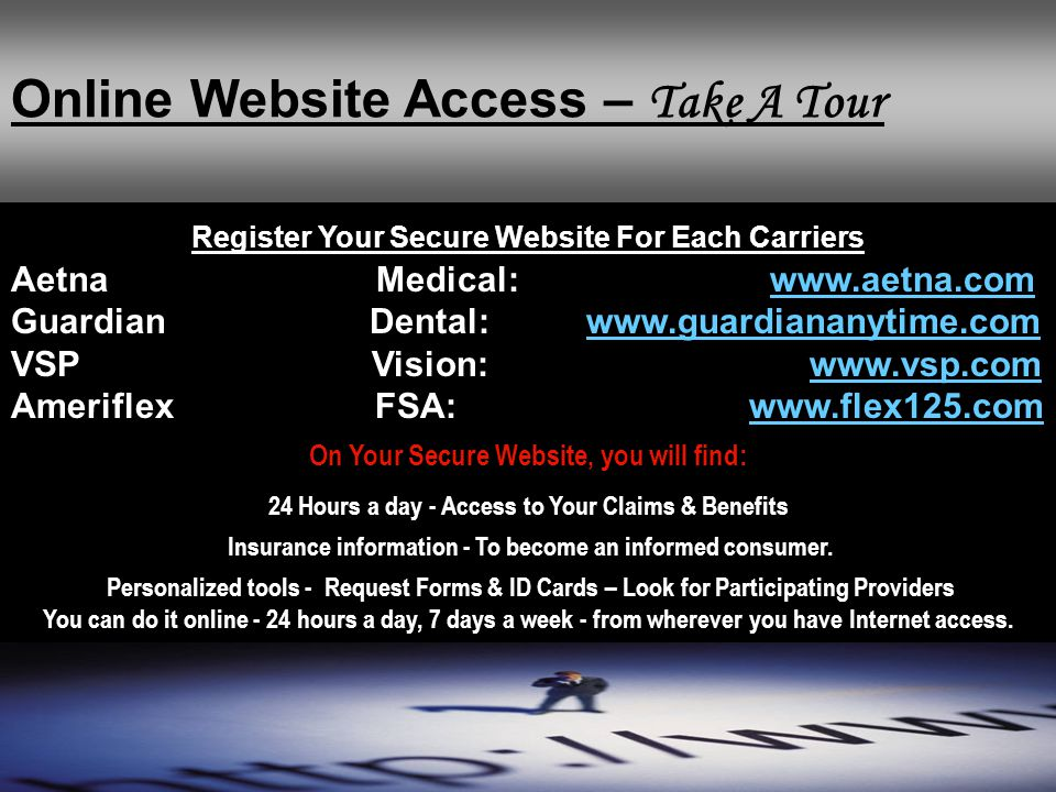 Online Website Access – Take A Tour