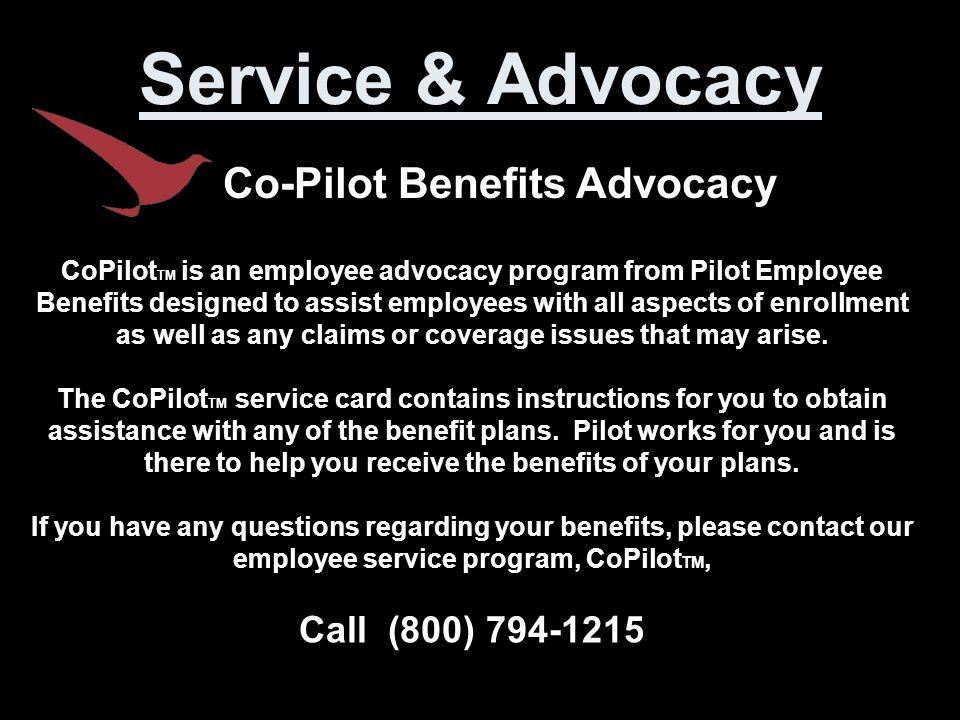 Co-Pilot Benefits Advocacy