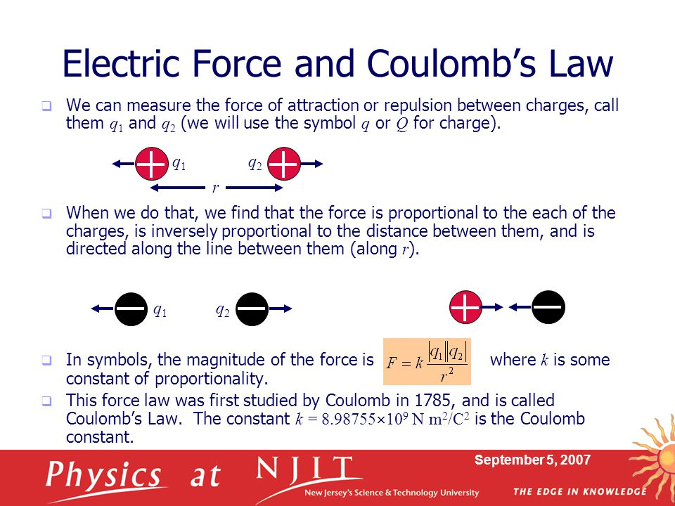 Electric Force and Coulomb's Law