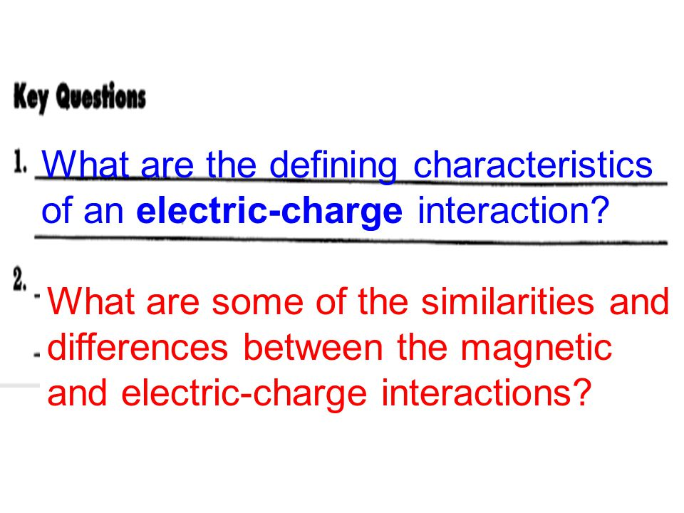 What are the defining characteristics of an electric-charge interaction