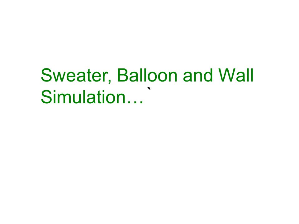Sweater, Balloon and Wall Simulation…