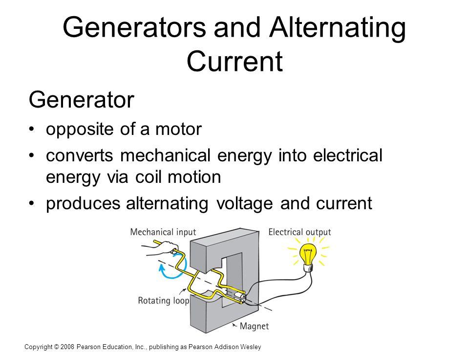 Generators and Alternating Current