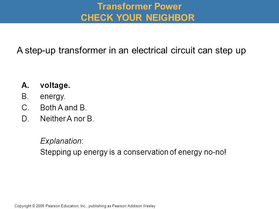 Transformer Power CHECK YOUR NEIGHBOR