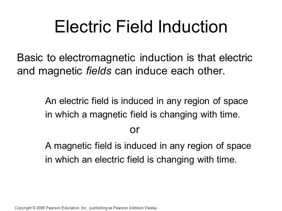 Electric Field Induction