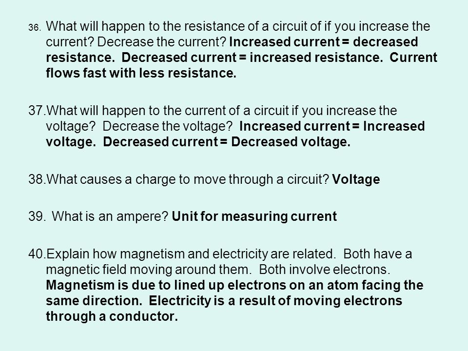 What causes a charge to move through a circuit Voltage