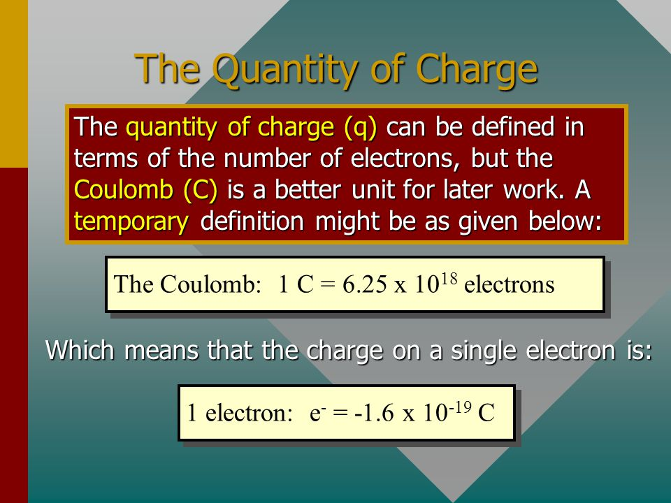 The Quantity of Charge