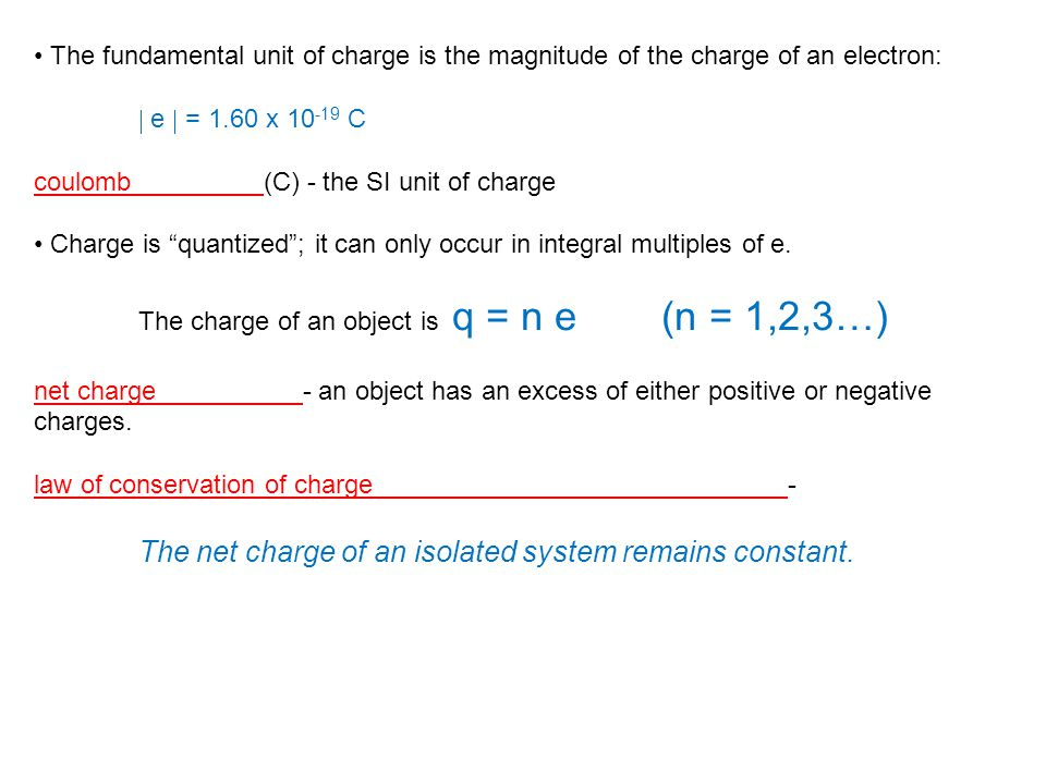 The net charge of an isolated system remains constant.