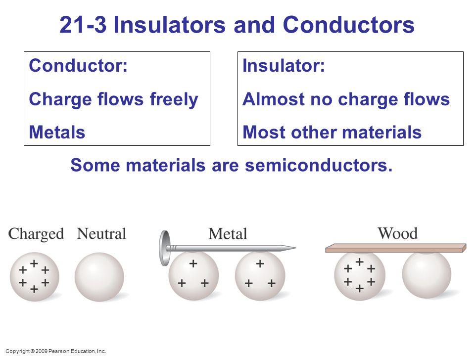 21-3 Insulators and Conductors