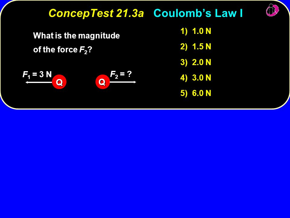 ConcepTest 21.3a Coulomb's Law I