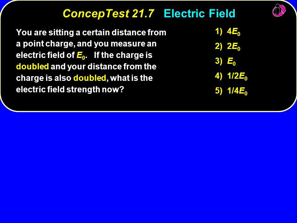 ConcepTest 21.7 Electric Field