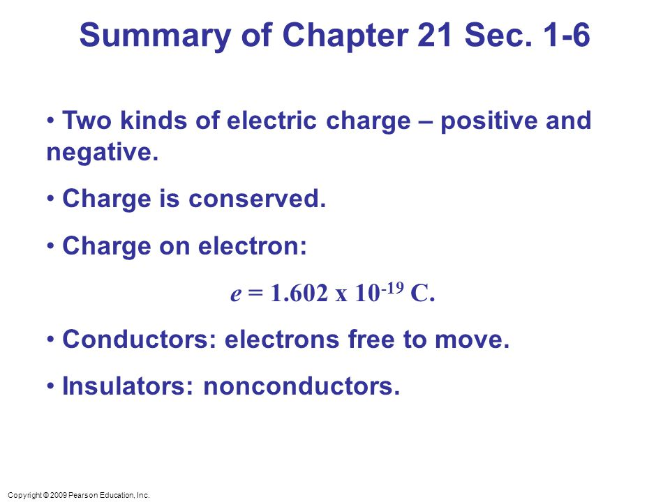 Summary of Chapter 21 Sec. 1-6