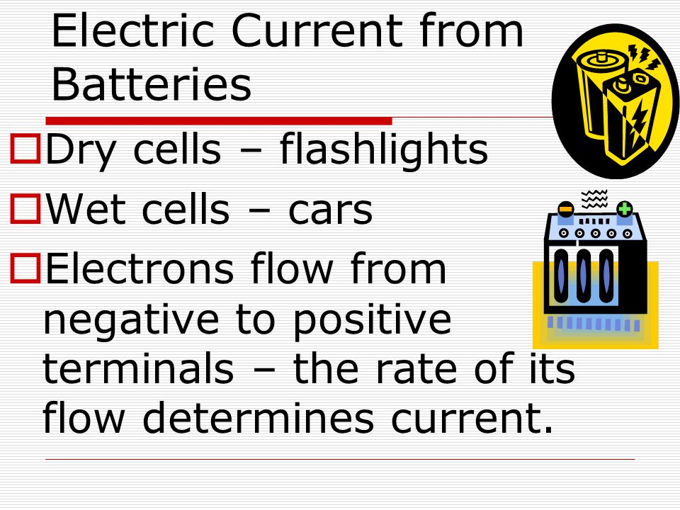 Electric Current from Batteries