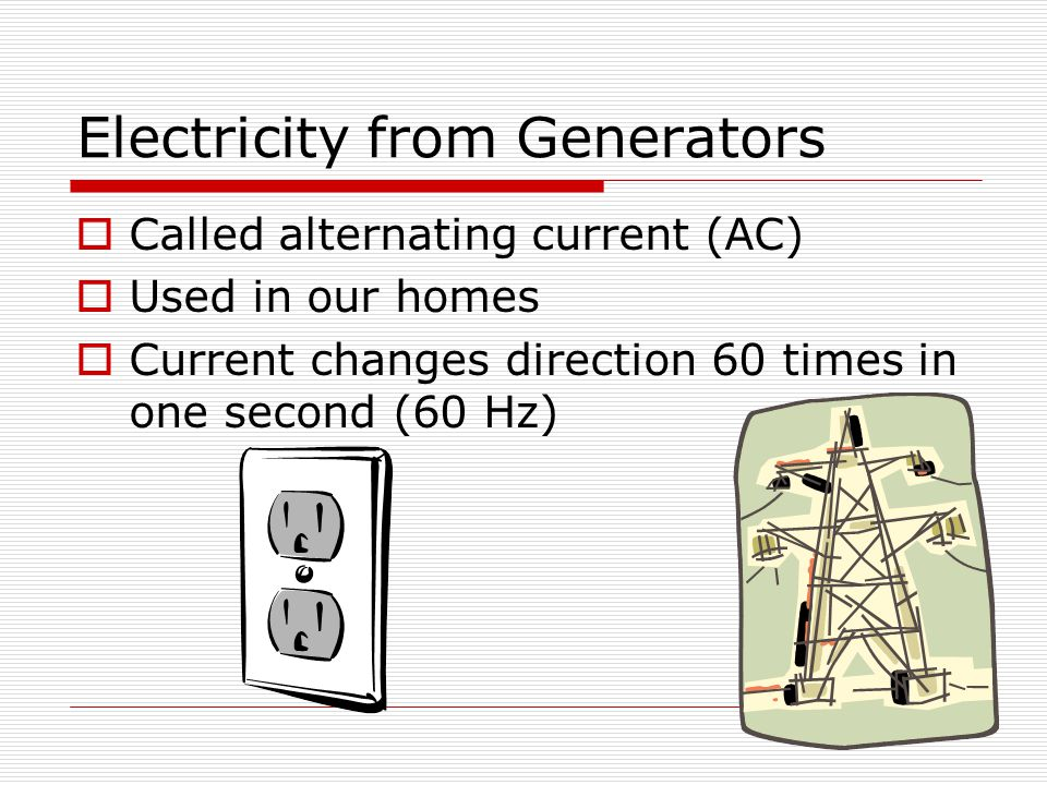 Electricity from Generators