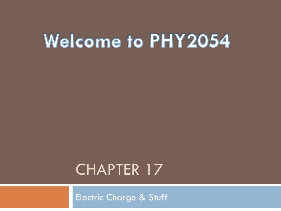 Electric Charge & Stuff