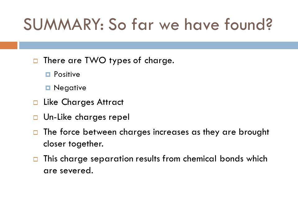 SUMMARY: So far we have found