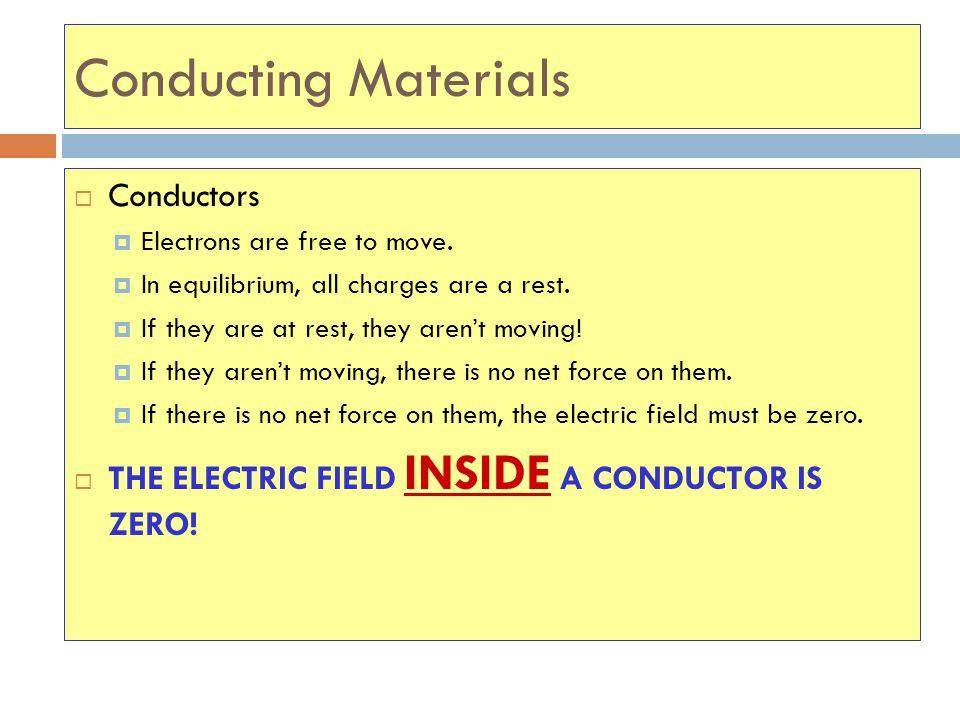 Conducting Materials Conductors