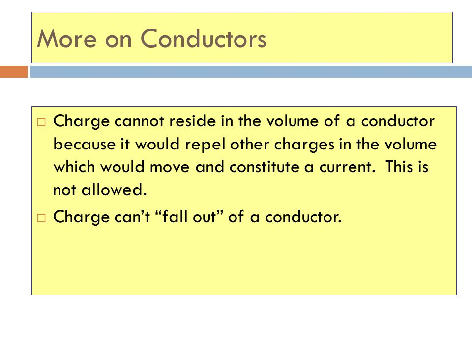 More on Conductors
