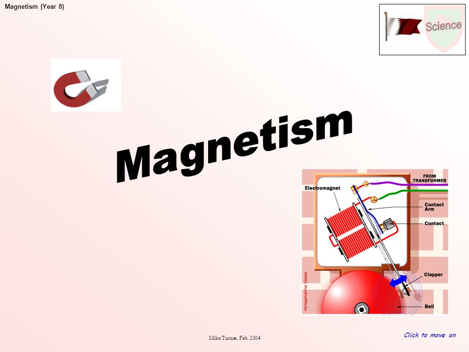 Magnetism Click to move on Mike Turner, Feb. 2004