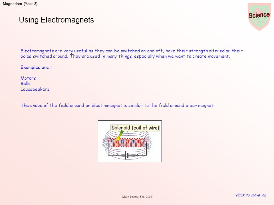 Using Electromagnets