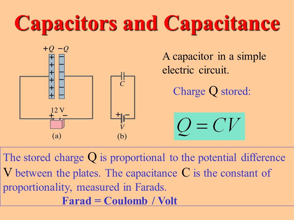 capacitors electric charge