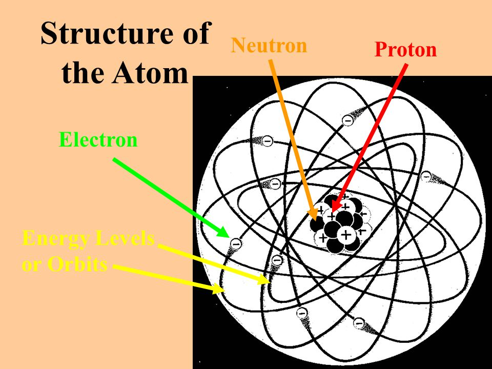 Structure of the Atom Neutron Proton Electron Energy Levels or Orbits