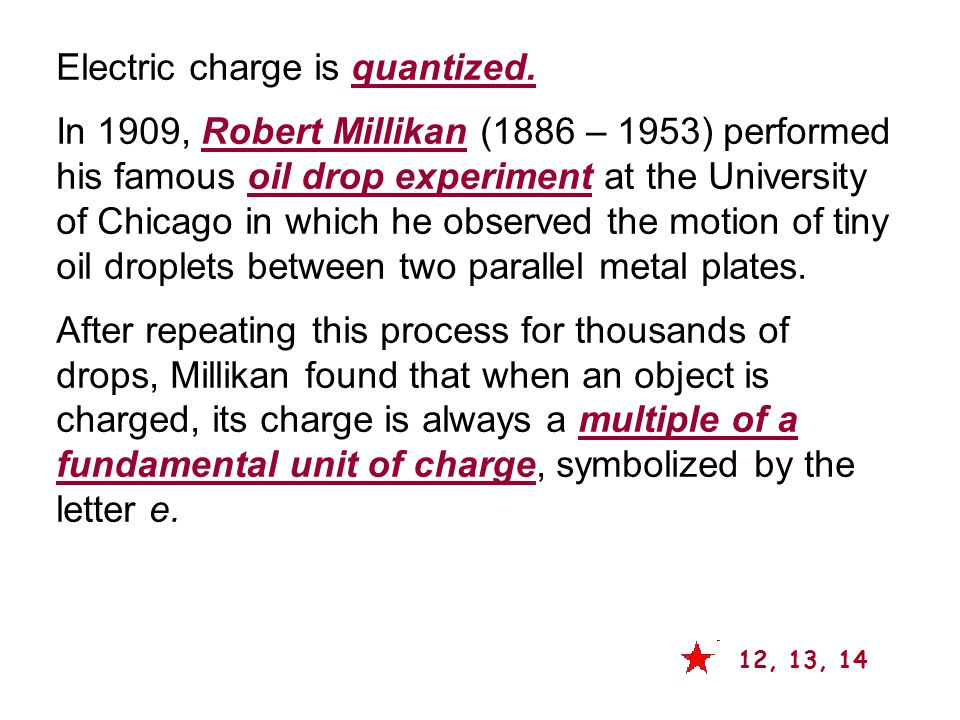Electric charge is quantized.
