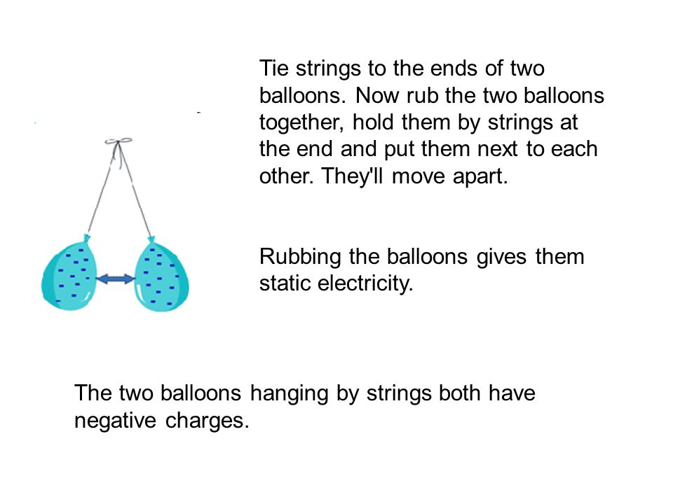 Tie strings to the ends of two balloons
