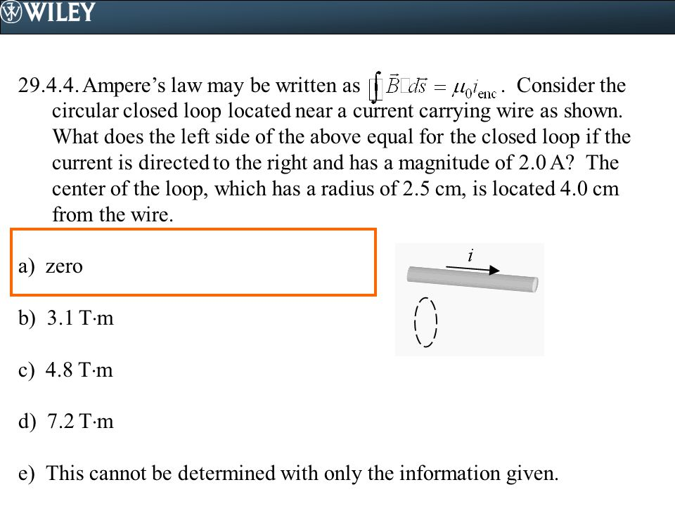 Ampere's law may be written as