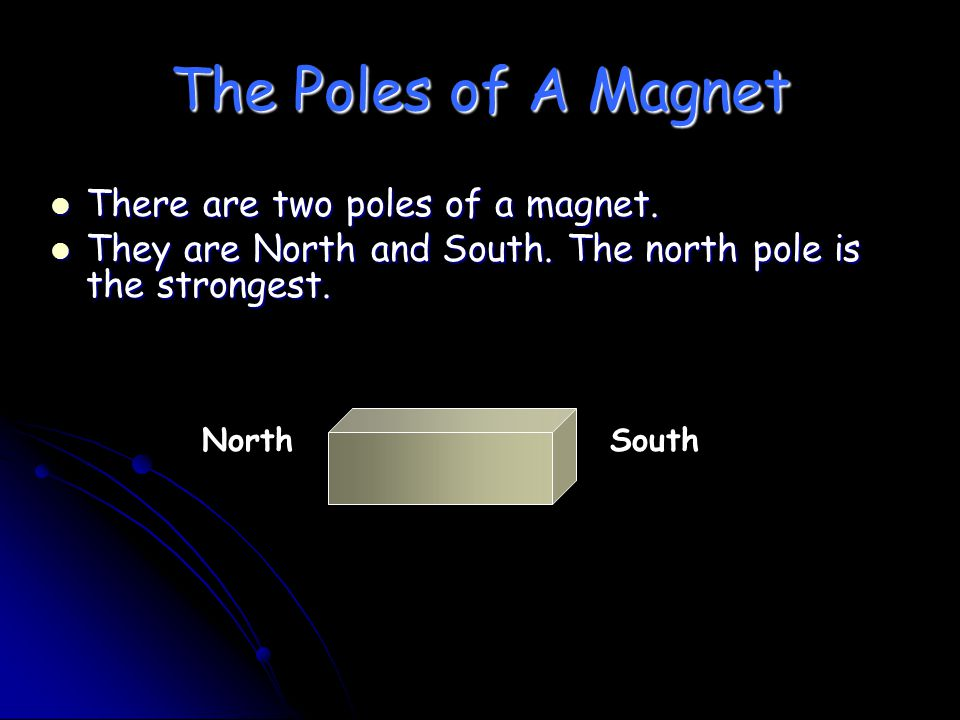 The Poles of A Magnet There are two poles of a magnet.