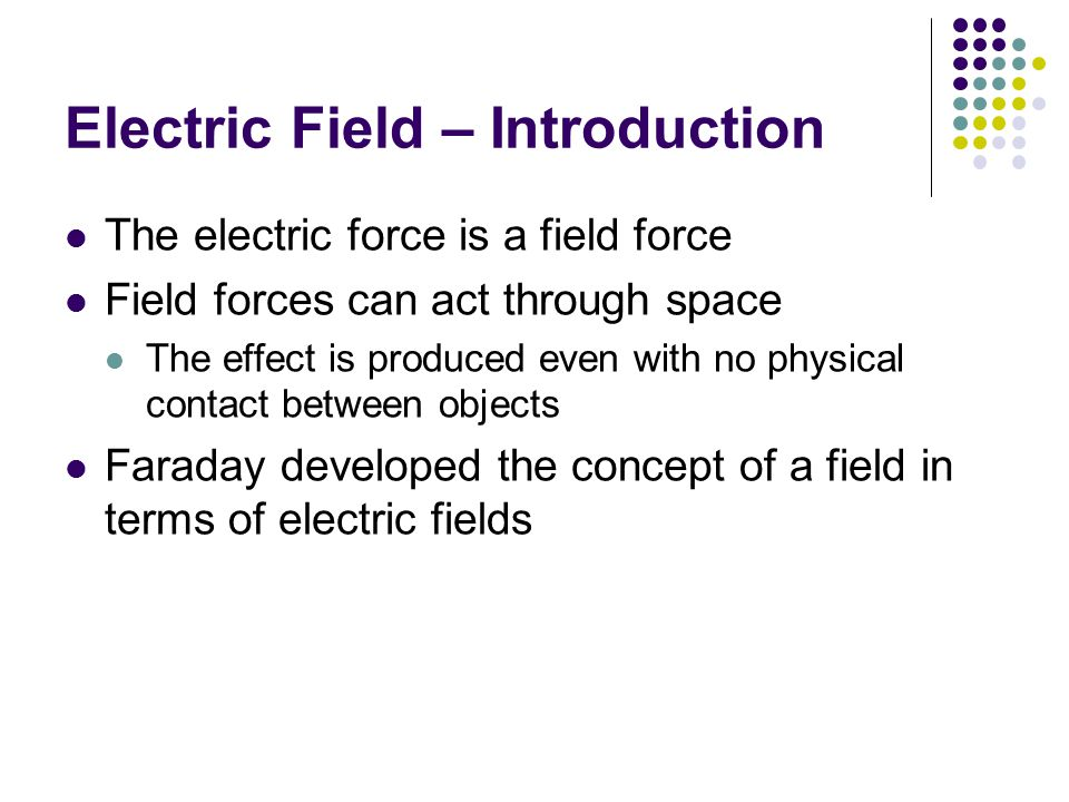 Electric Field – Introduction