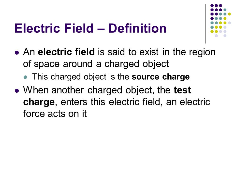 Electric Field – Definition
