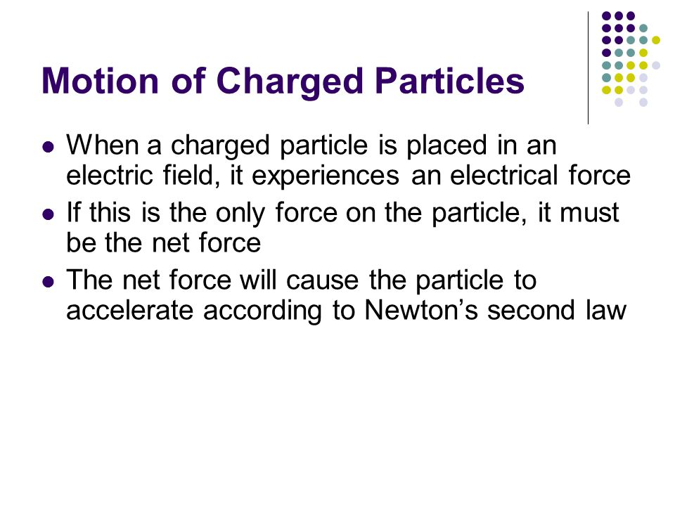 Motion of Charged Particles