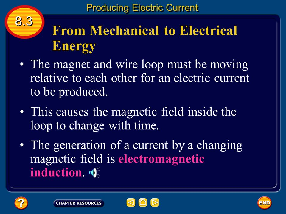 From Mechanical to Electrical Energy