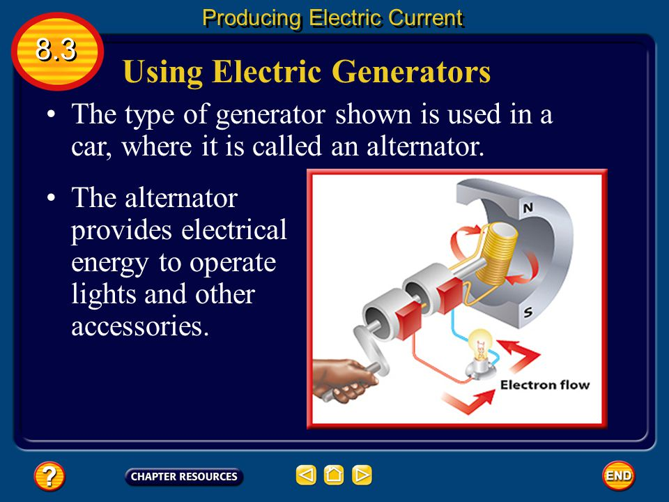 Using Electric Generators