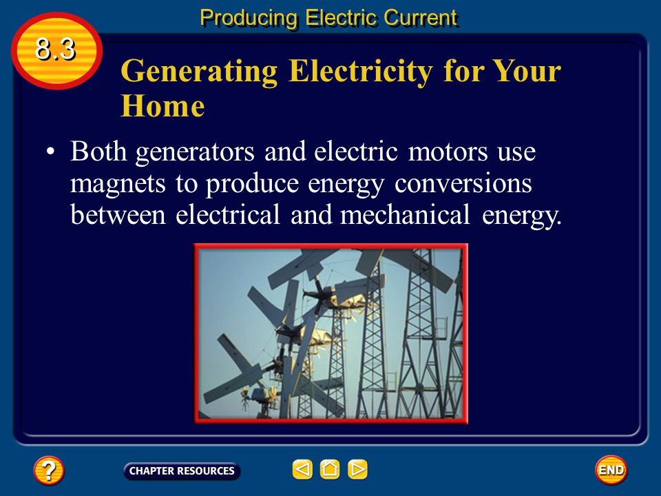 Generating Electricity for Your Home