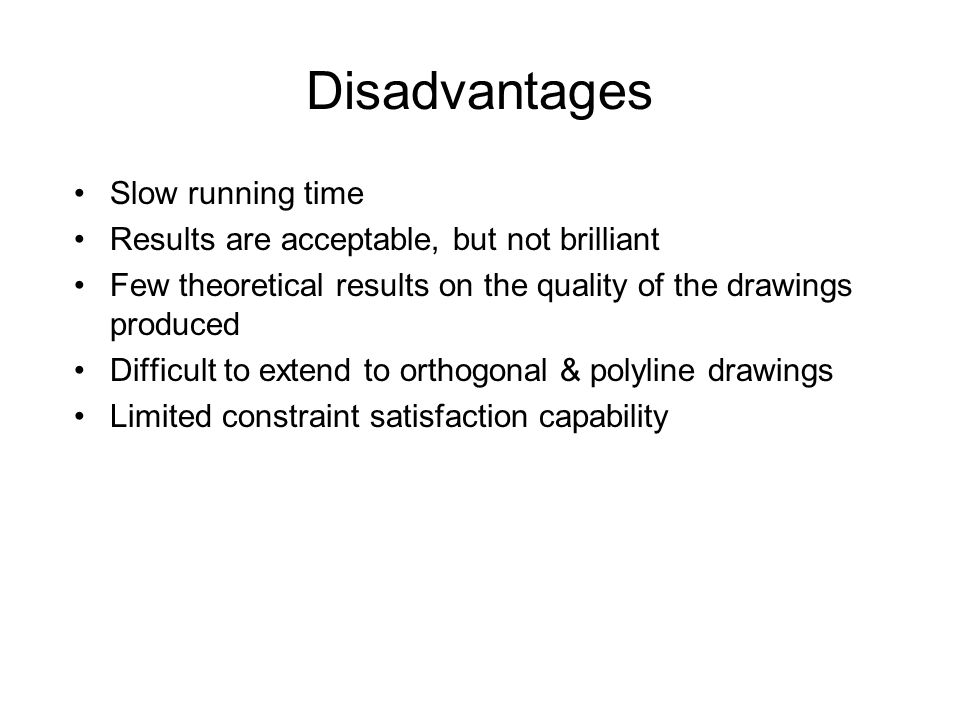 Disadvantages Slow running time