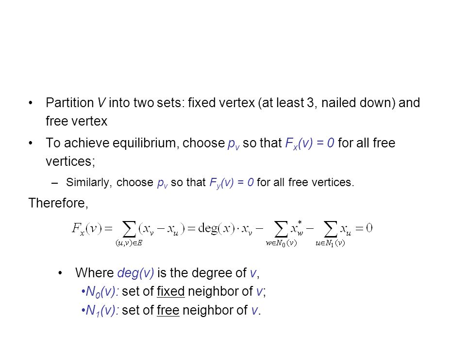 Where deg(v) is the degree of v, N0(v): set of fixed neighbor of v;