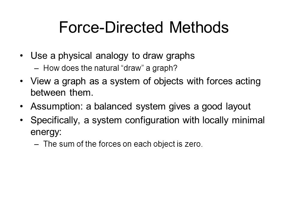 Force-Directed Methods