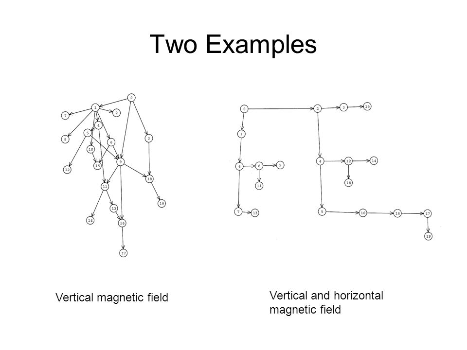 Two Examples Vertical and horizontal magnetic field