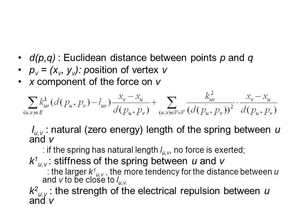 d(p,q) : Euclidean distance between points p and q