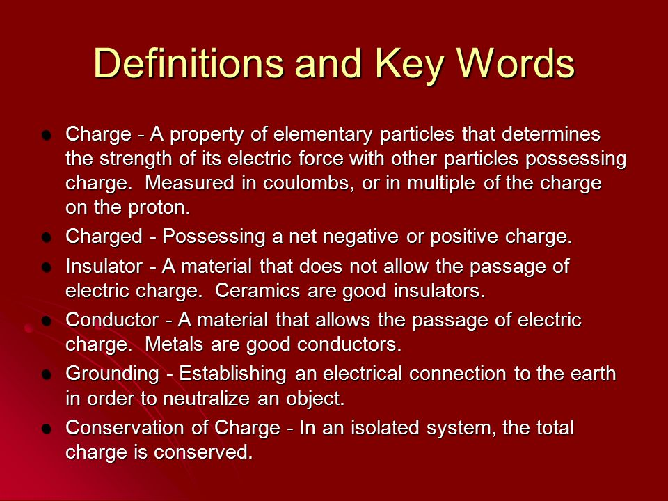 Definitions and Key Words