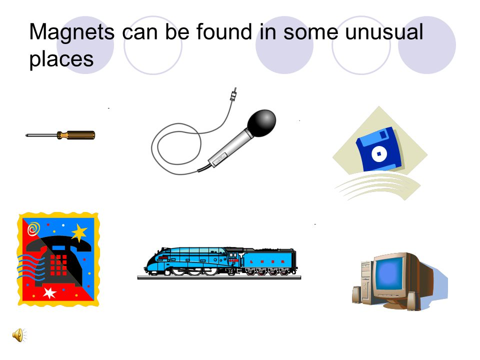 Magnets can be found in some unusual places
