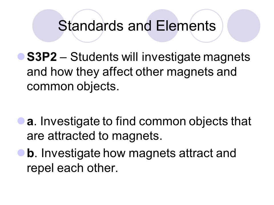Standards and Elements