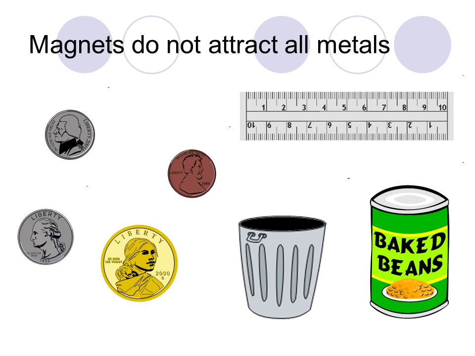 Magnets do not attract all metals