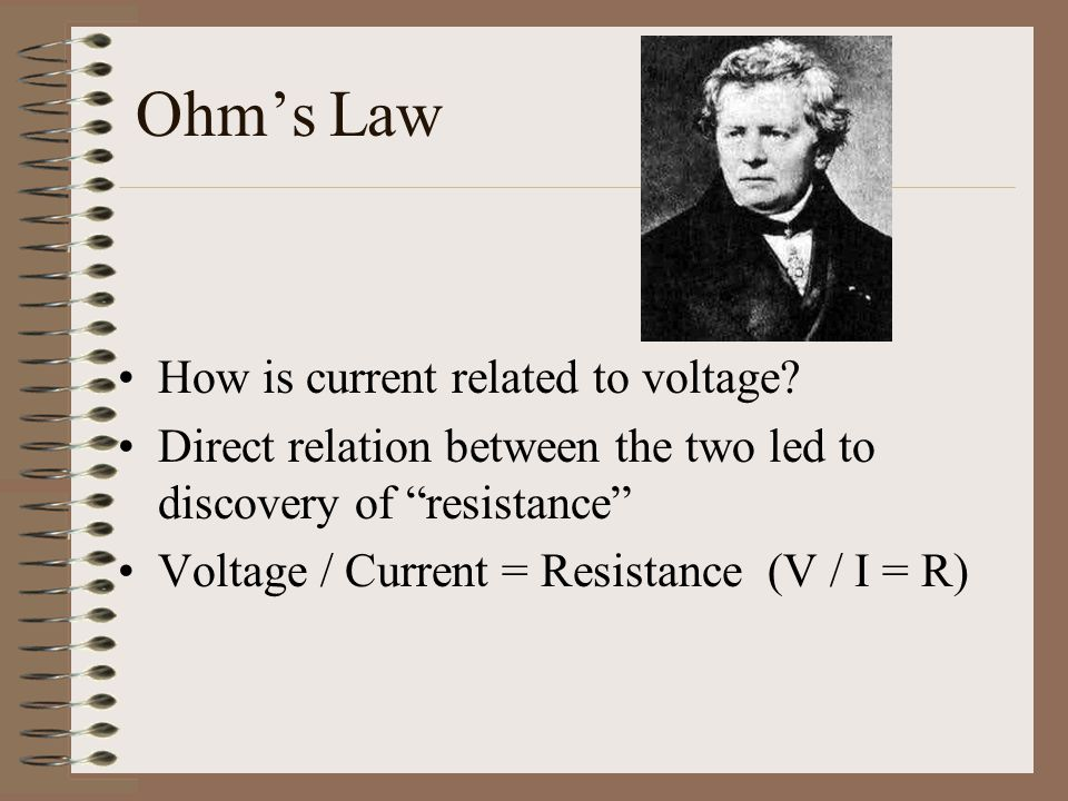 Ohm's Law How is current related to voltage