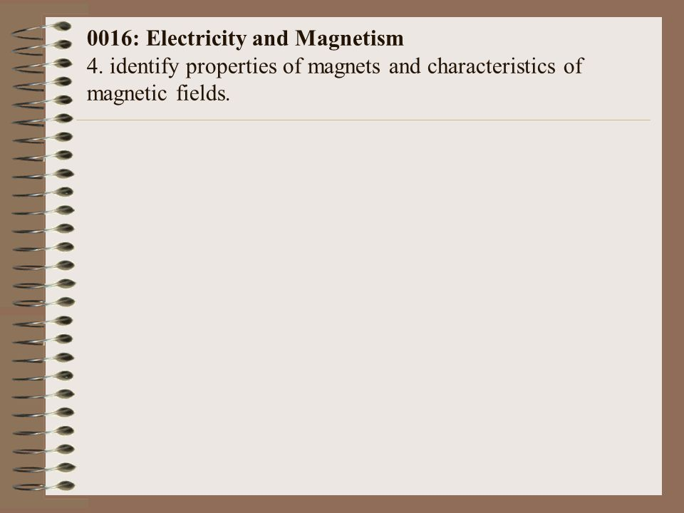 0016: Electricity and Magnetism 4