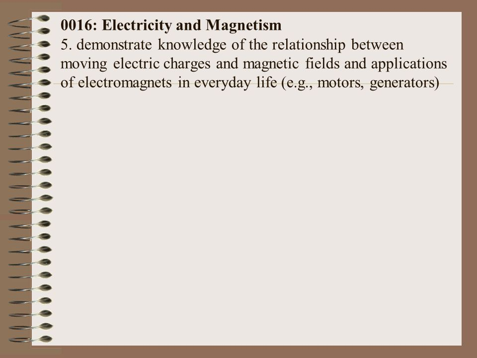 0016: Electricity and Magnetism 5